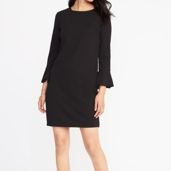 5284ee7aa4659 Old Navy Black Ponte Knit Bell Sleeve Dress -NWT